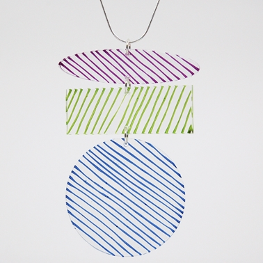 purple, lime and blue Studio pendant