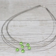Multi Strand Necklace Grass Green