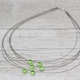 Multi Strand Necklace in Grass Green