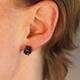 Sapphire & Oxidised Silver Pompom Stud Earrings