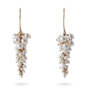 Gold & pearl wisteria earrings