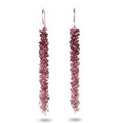 Tourmaline and gold catkin earrings