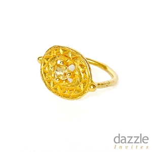 Yellow Sapphire Shield Ring