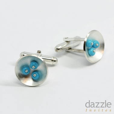 Cup Cufflinks Turquoise