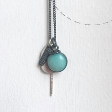 Tag amazonite necklace