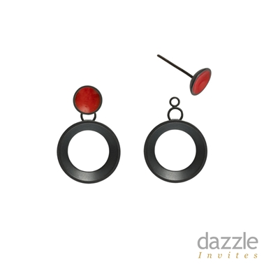 Circle Drop Earrings with removable stud - photo by Stacey Bentley