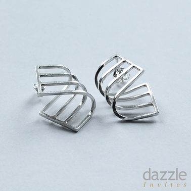 Curve Earrings - silver