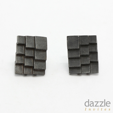 Roof earrings oxidised