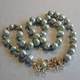Light green Chinese freshwater pearl necklace