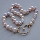 Pink/peachy pearl necklace