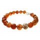 Captured Citrine and Carnelian Necklace