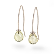 18ct White Gold with Lemon Quartz Briolettes