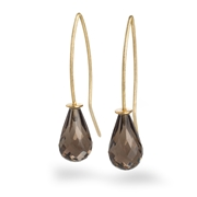 18ct Yellow Gold Earrings with Smokey Quartz