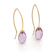 18ct Yellow Gold Earrings with Amethyst