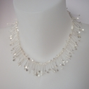 Chaos wire necklace, satin