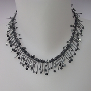 Chaos wire necklace, oxidised