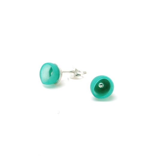 Turquoise green 1 cup studs