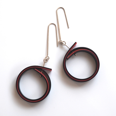 black red earrings main image