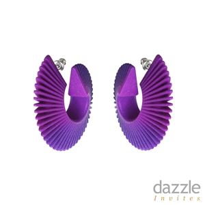 Twist Hoop Earrings Purple