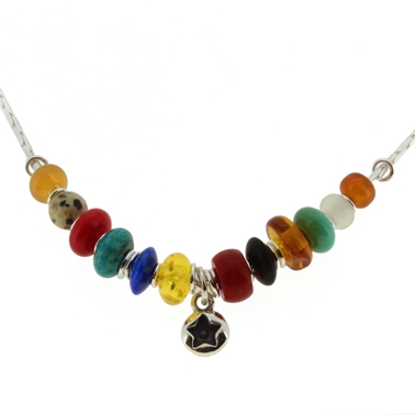 multi coloured necklace 2A
