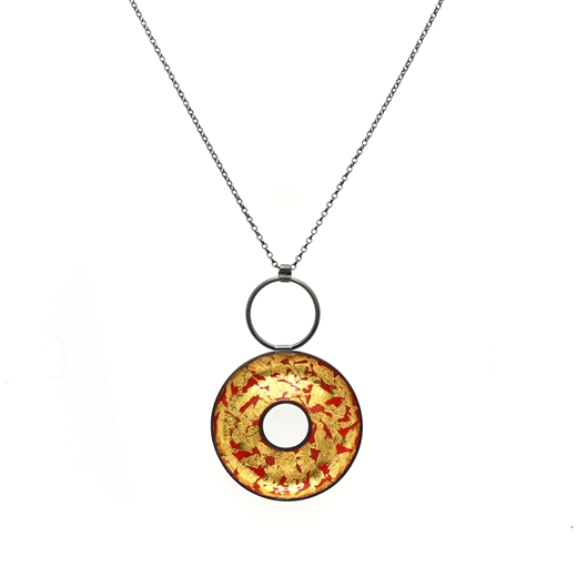 Eternity Circle Necklace front view