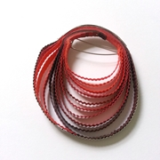 Red Paper and Silver Brooch