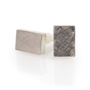 Silver and 18ct White Gold Rectangular Cufflinks