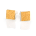 Silver and 24ct Gold Square Cufflinks