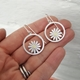 Aster and circle earrings