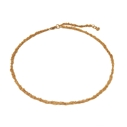 22ct Gold Plated Crochet Necklace