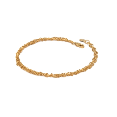 22ct Gold Plated Silver Crochet Chain Bracelet