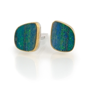 24ct Gold and Silver Cufflinks with large Opals Freeflow