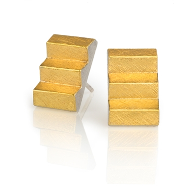 24ct Gold and Silver Earrings