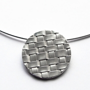 Interlaced Pendant on Omega Necklet
