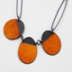 Buoy neckpiece orange