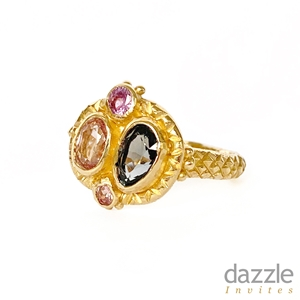 Queenie Ring Pink and Purple