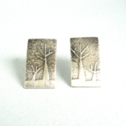 two tree earrings