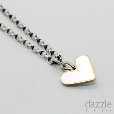 White Enamel Heart