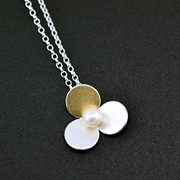 3 circles pendant with Keumboo and pearls