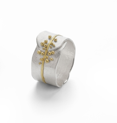 Gold Granulated Ring