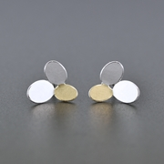 3 ovals earrings with Keumboo