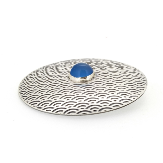 brooch No.5, blue chalcedony, 4