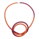 Knot Necklace Orange/Red