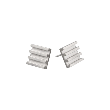 4 Lined Studs Silver