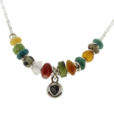 multi coloured necklace 1A 1