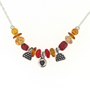 Amber and Sea bamboo necklace. No. 4 a