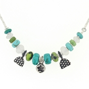 blue green turquoise star necklace. No. 5 a