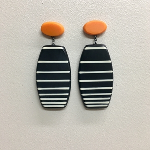 Stripe drop earrings