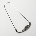 small 6-layer necklace, oxidised