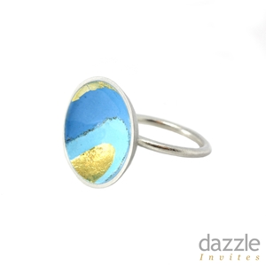 Enamel Dome Ring